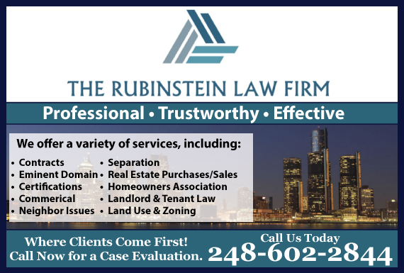 Exclusive Ad: Rubinstein Law Firm-R/E Bingham Farms 2482201415 Logo