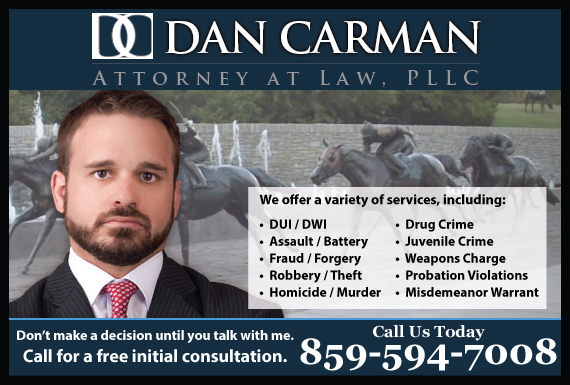 Exclusive Ad: Dan Carman, Attorney at Law PLLC Lexington 8596851055 Logo