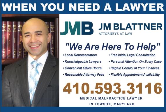 Exclusive Ad: Medical Malpractice Towson 4104151400 Logo