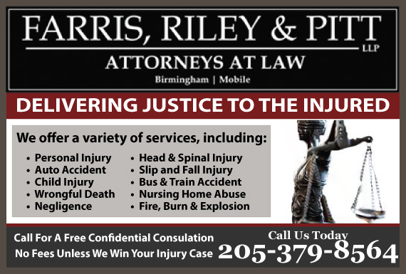 Exclusive Ad: Farris, Riley, & Pitt, LLP l Attorneys at Law Birmingham 2053241212 Logo