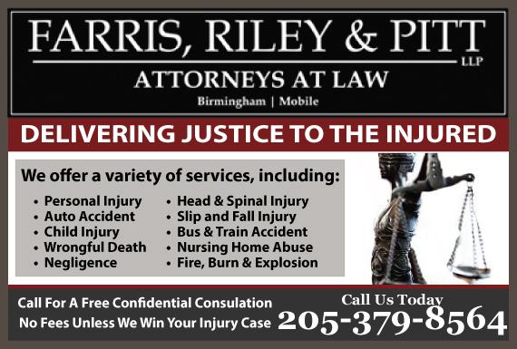 Exclusive Ad: Farris, Riley, & Pitt, LLP l Attorneys at Law Birmingham 2053241212 Logo