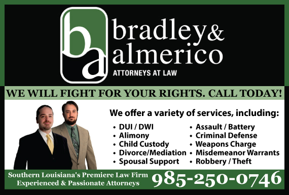 Exclusive Ad: Bradley Almerico Attorneys at Law Metairie 9855904132 Logo