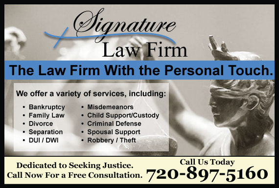 Exclusive Ad: Signature Law Firm Denver 3032289458 Logo