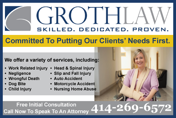 Exclusive Ad: Groth Law Firm, S.C. Brookfield 4143752030 Logo