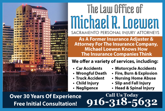 Exclusive Ad: The Law Office of Michael R. Loewen Sacramento 9163442300 Logo