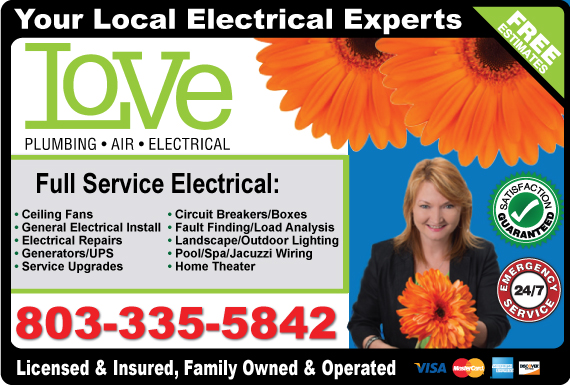 Exclusive Ad: Electrical West Columbia 8032912835 Logo