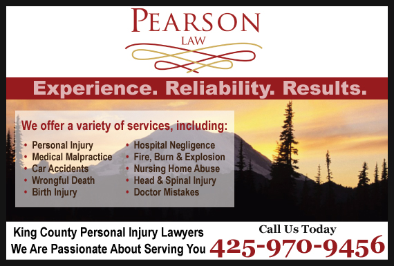 Exclusive Ad: Pearson Law Firm Issaquah 4258313100 Logo