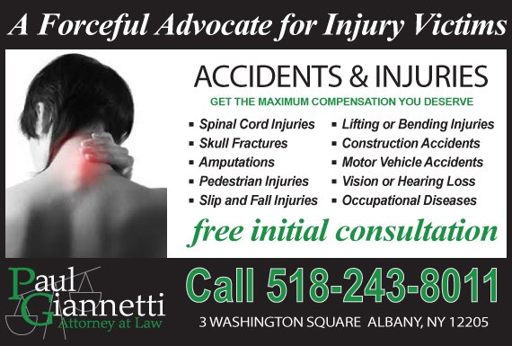 Exclusive Ad: Paul Giannetti, Attorney at Law Albany 5182438011 Logo