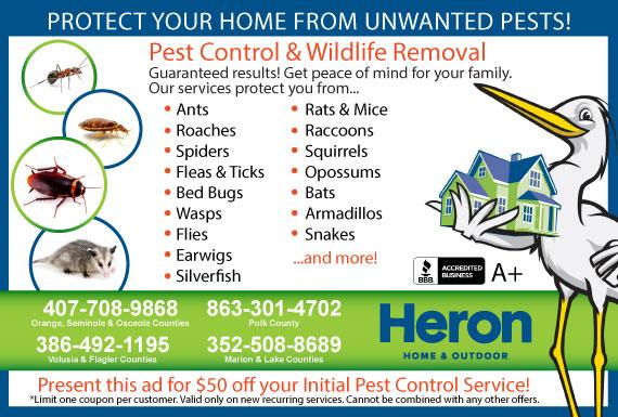 Exclusive Ad: Heron Home & Outdoor Orlando 4073316881 Logo