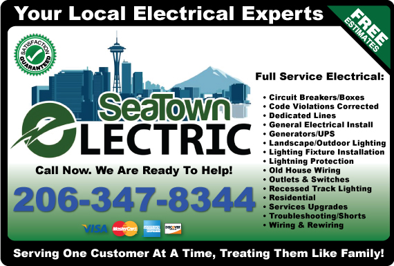 Exclusive Ad: SeaTown Electric Seattle 2062930037 Logo