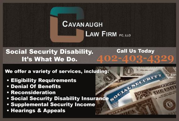 Exclusive Ad: Cavanaugh Law Firm, PC, LLO Omaha 4023412020 Logo