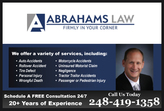 Exclusive Ad: Abrahams Law Farmington Hills 2485382900 Logo