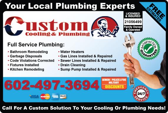 Exclusive Ad: Custom Plumbing Of Arizona Phoenix 6028662665 Logo