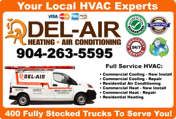 Exclusive Ad: Del-Air Heating & Air Conditioning Sanford 8888312665 Logo