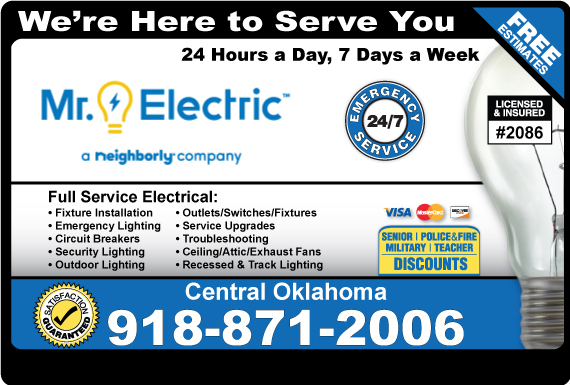 Exclusive Ad: Mr. Electric of Tulsa Tulsa 9188794000 Logo