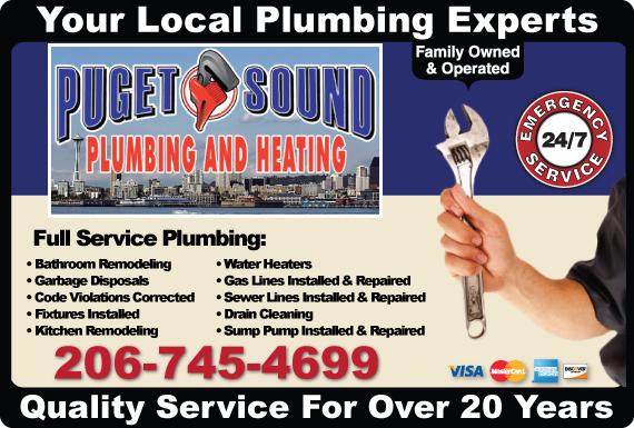 Exclusive Ad: Puget Sound Plumbing & Heating Seattle  Logo