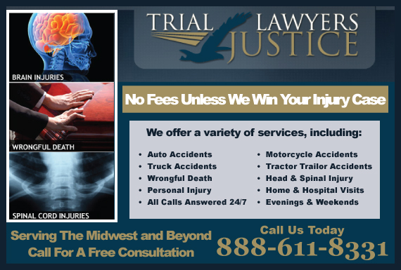 Exclusive Ad: Trial Lawyers For Justice Law Firm Des Moines 8888110044 Logo