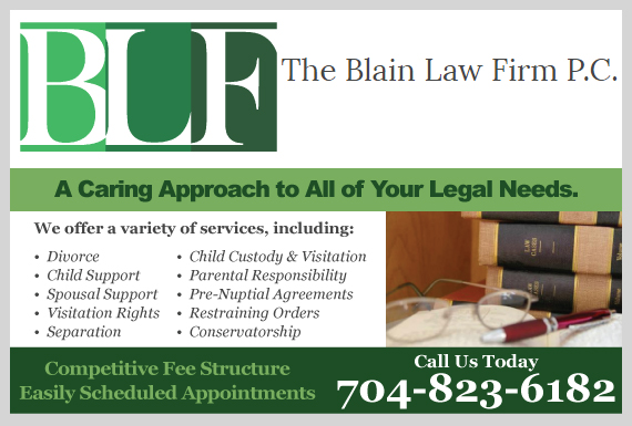 Exclusive Ad: The Blain Law Firm P.C. Charlotte 7049004399 Logo