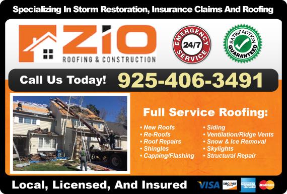 Exclusive Ad: Zio Roofing & Construction Denver 9259832064 Logo