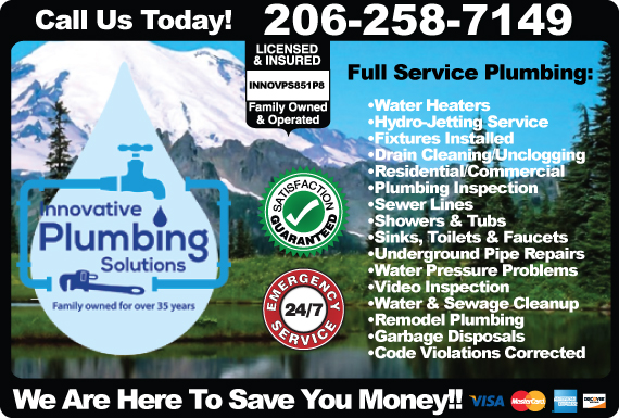 Exclusive Ad: Innovative Plumbing Solutions Seattle 2066932464 Logo