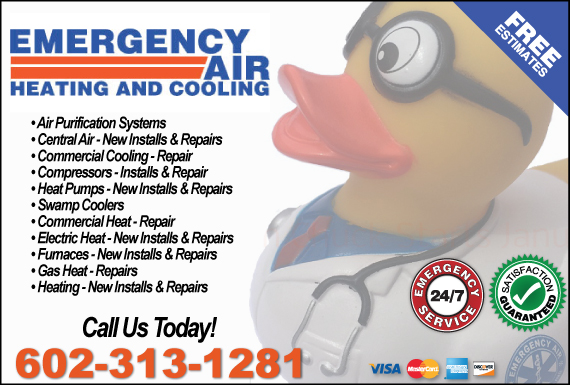 Exclusive Ad: Emergency Air Heating and Cooling Mesa 6024000000 Logo
