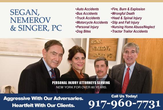 Exclusive Ad: Segan, Nemerov & Singer, PC New York 2126969100 Logo