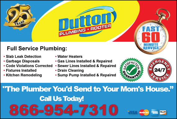Exclusive Ad: Dutton Plumbing, Inc. Simi Valley 8442098050 Logo