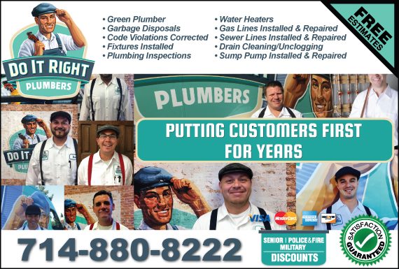 Exclusive Ad: Do It Right Plumbers Santa Ana 7143693200 Logo
