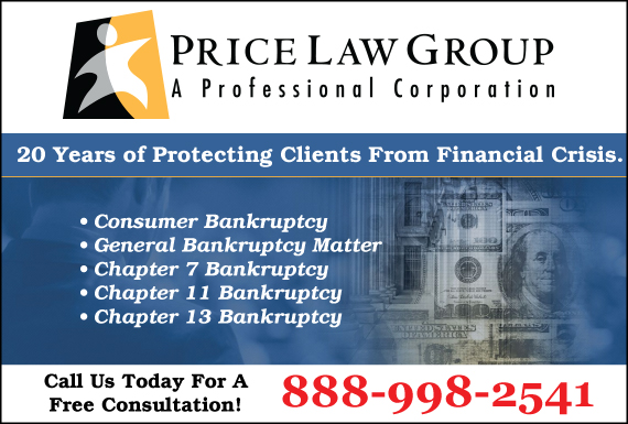 Exclusive Ad: Price Law Group Bakersfield 8182052711 Logo