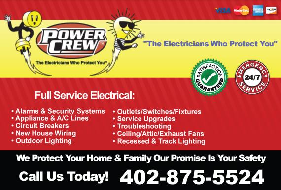 Exclusive Ad: Power Crew Omaha 4023332222 Logo