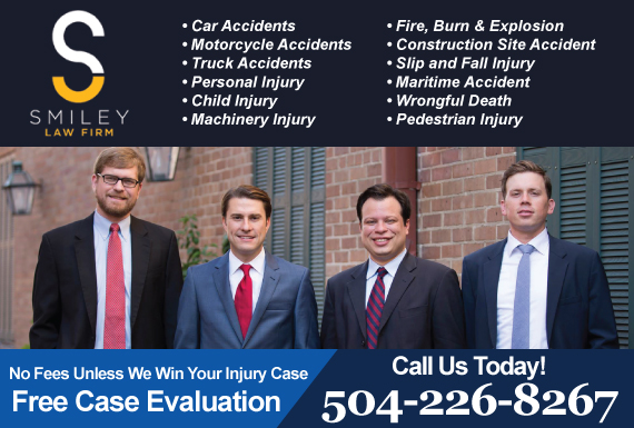 Exclusive Ad: Smiley Law Firm New Orleans 5042266995 Logo