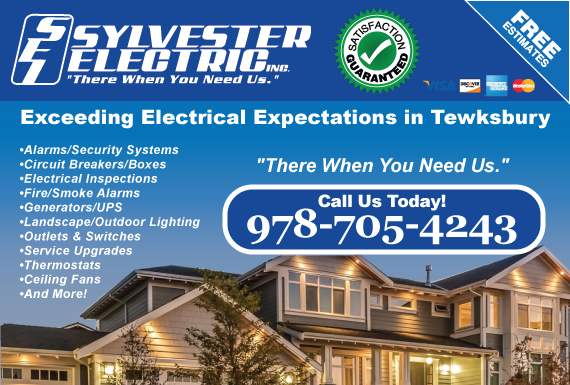 Exclusive Ad: Sylvester Electric, Inc. Tewksbury 9789573428 Logo