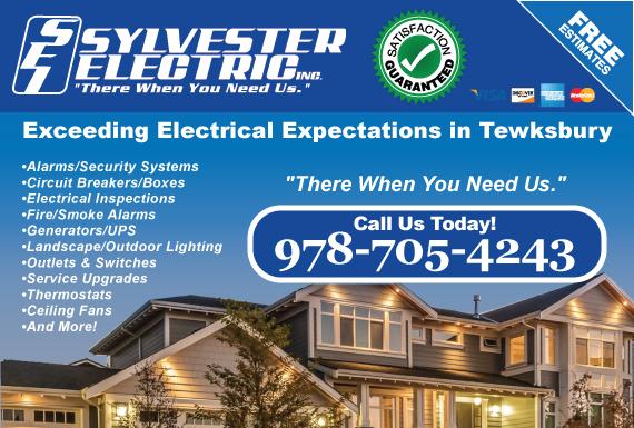 Exclusive Ad: Sylvester Electric, Inc. Tewksbury 9789573428 Logo