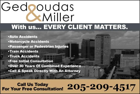 Exclusive Ad: Gedgoudas & Miller Birmingham 2059107888 Logo
