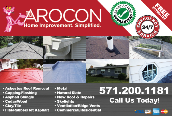 Exclusive Ad: Arocon Roofing and Construction LLC Westminster 5713499111 Logo
