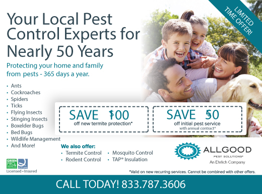 Exclusive Ad: Allgood Pest Solutions Reading 4074786915 Logo