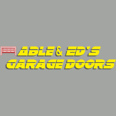 Able & Ed's Garage Doors Logo