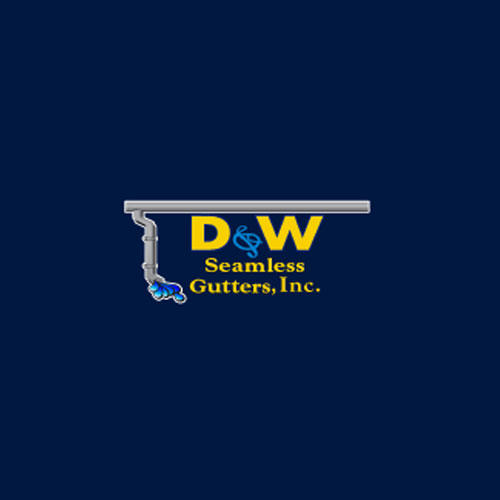 D & W Seamless Gutters Logo