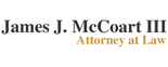 James J. McCoart III Attorney at Law Logo