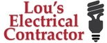 Lou's Electrical Contractor Logo