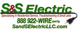S & S Electric, LLC : 703-829-0222 Logo