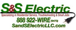 S & S Electric, LLC : 301-233-1258 Logo