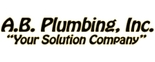 A B Plumbing Heating & Cooling Logo