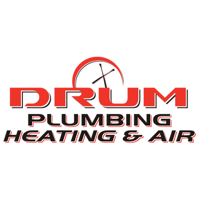 Drum Plumbing Heating & Air Conditioning Logo