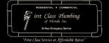 First Class Plumbing of Florida Inc. Logo