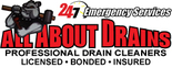 All About Drains LLC Professional Drain Cleaners Logo
