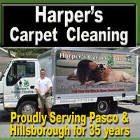 Harpers Carpet Cleaning Pasco Hillsborough Logo