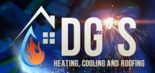 DG's Heating / Cooling & Roofing Logo