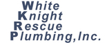White Knight Rescue Plumbing Logo