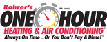 Rohrer's One Hour Heating & Air Conditioning Logo